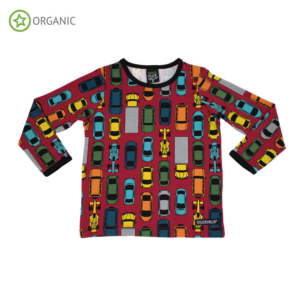 VILLERVALLA TRAFFIC PRINT LS, RED
