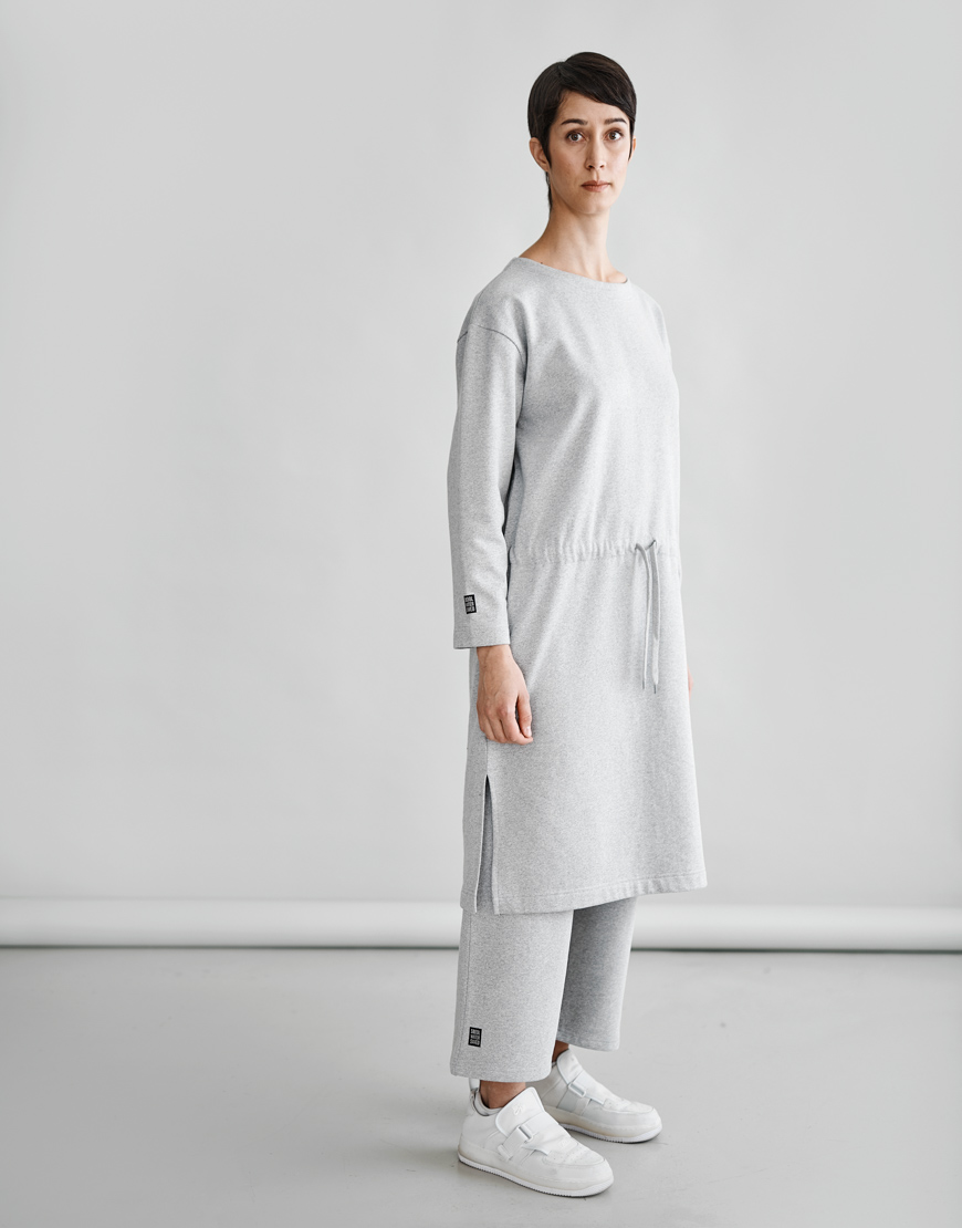 MAINIO WOMEN´S PURE DRESS, GREY MELANGE