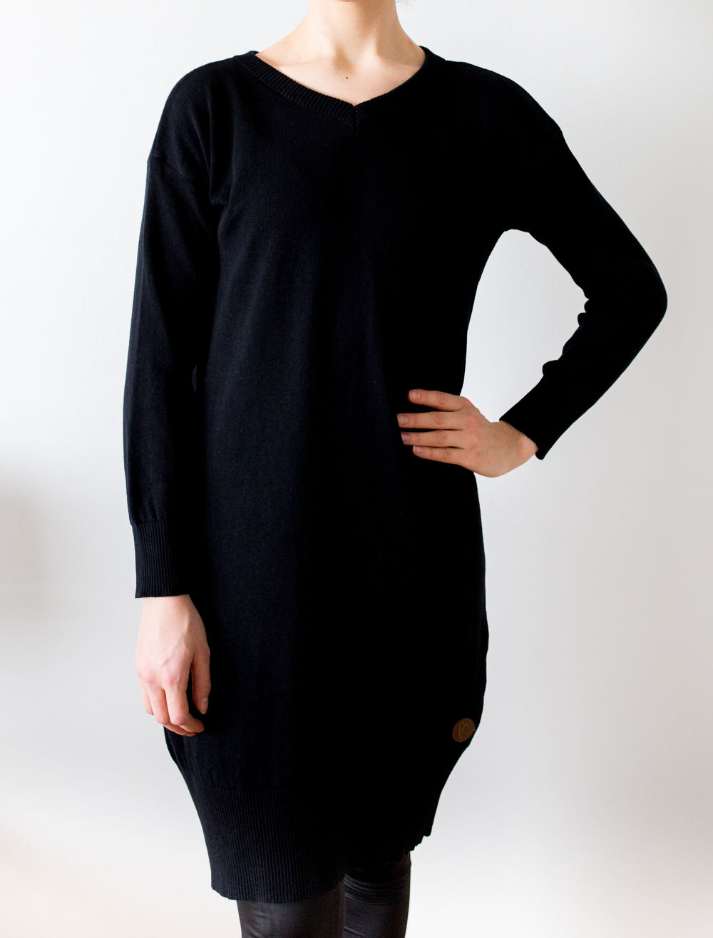 BLAA OLIWA WOMAN KNITTED DRESS,BLACK