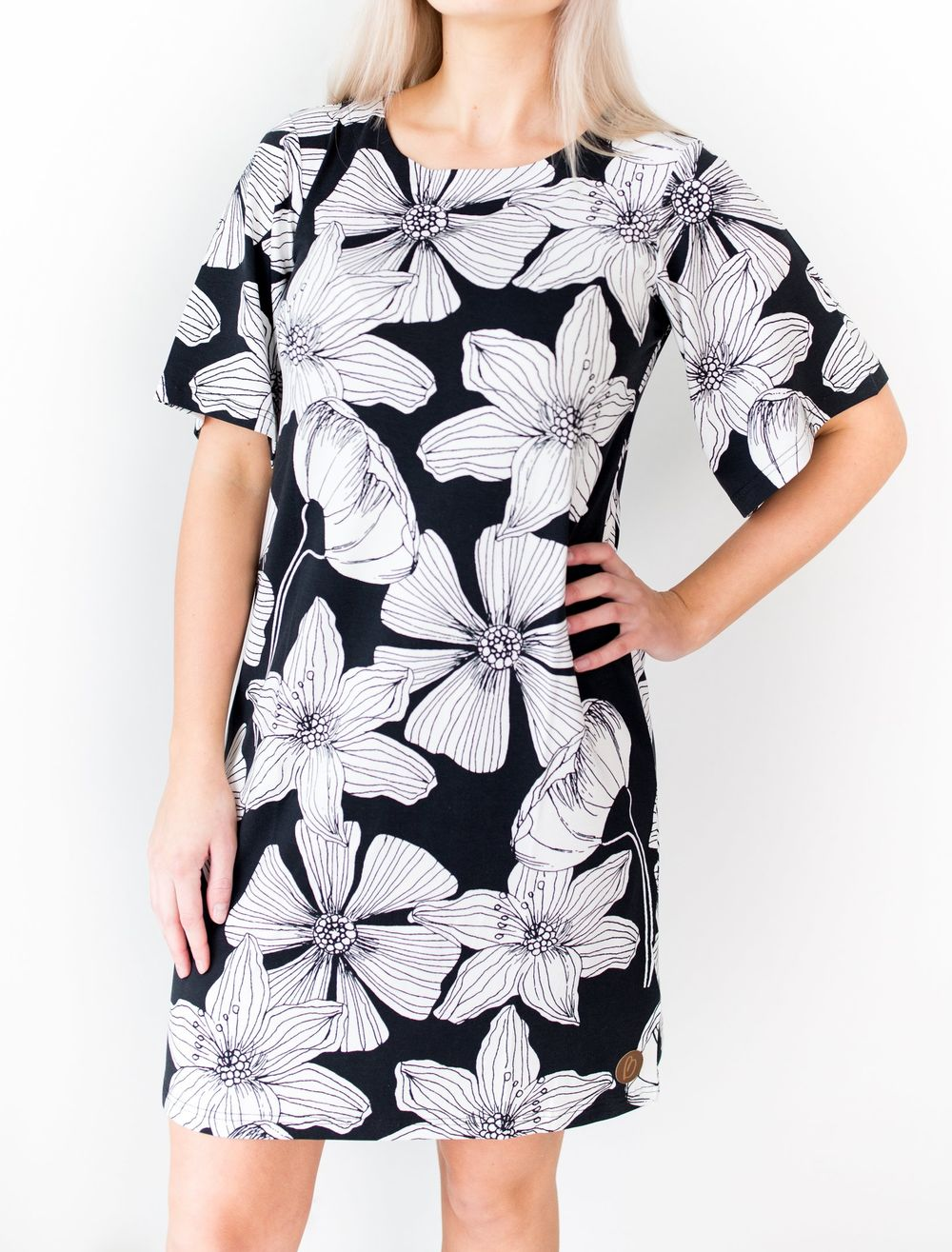 BLAA MANHATTAN DRESS, BLACK FLOWER