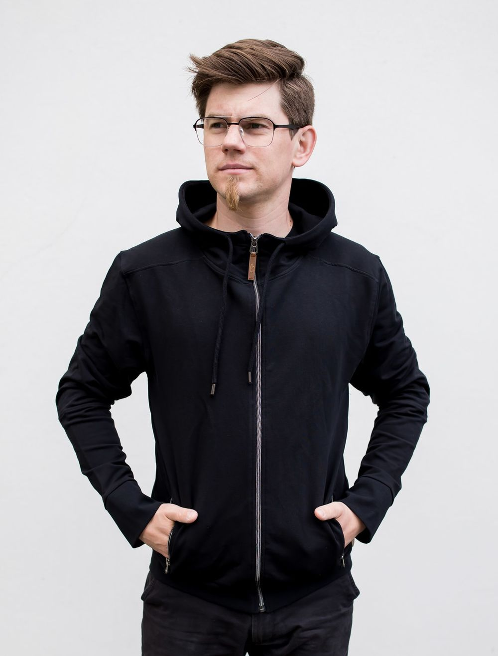 BLAA BERGEN MENS ZIPPER, BLACK