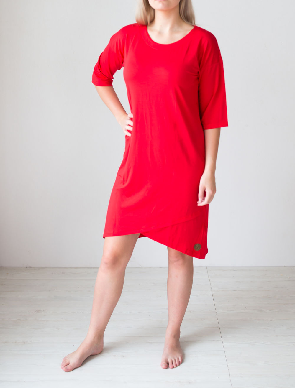 BLAA MERIDA DRESS, TOMATO