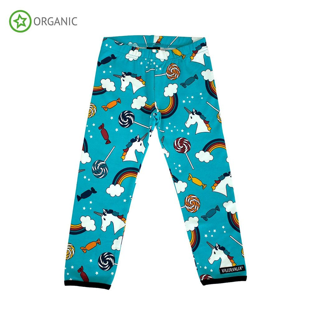 VILLERVALLA FANTACY LEGGINGS, LAGOON