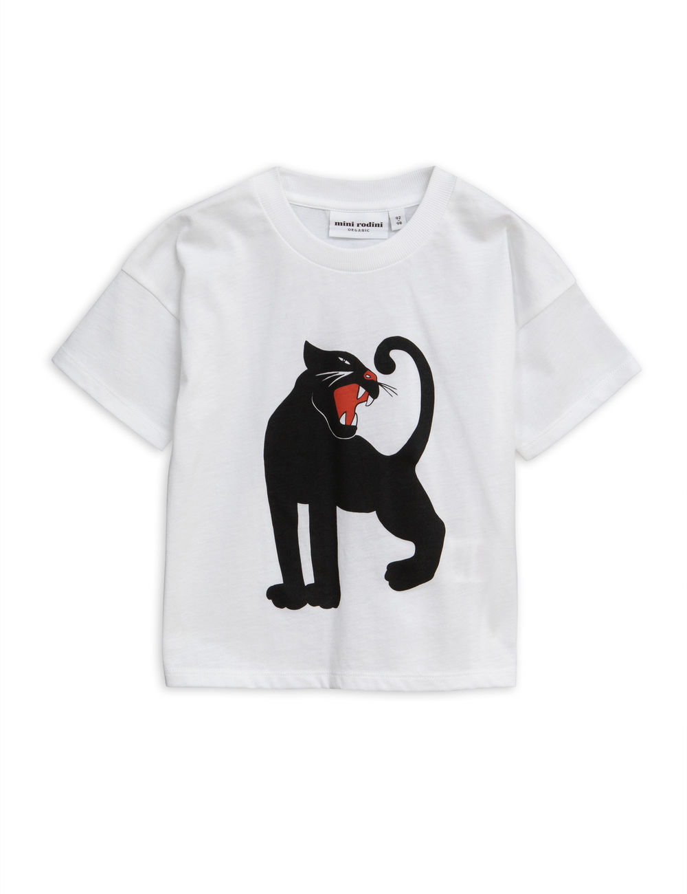 MINI RODINI PANTHER TEE, WHITE