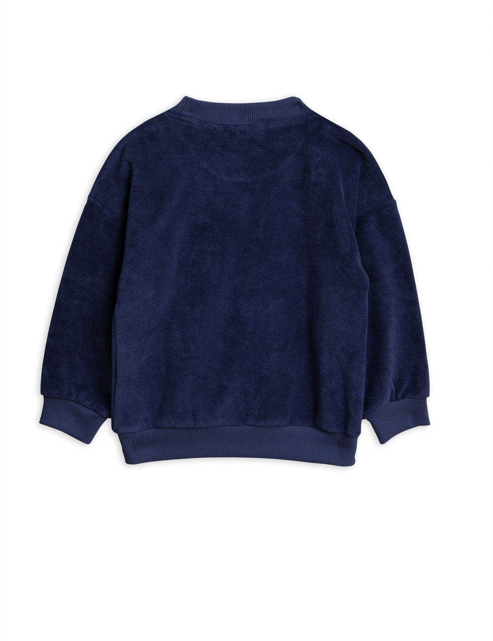 MINI RODINI WHALE TERRY SWEATSHIRT, NAVY