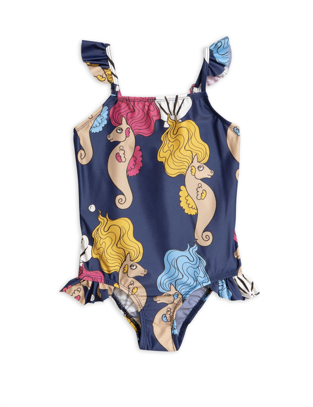 MINI RODINI SEAHORSE WING SWIMSUIT, NAVY