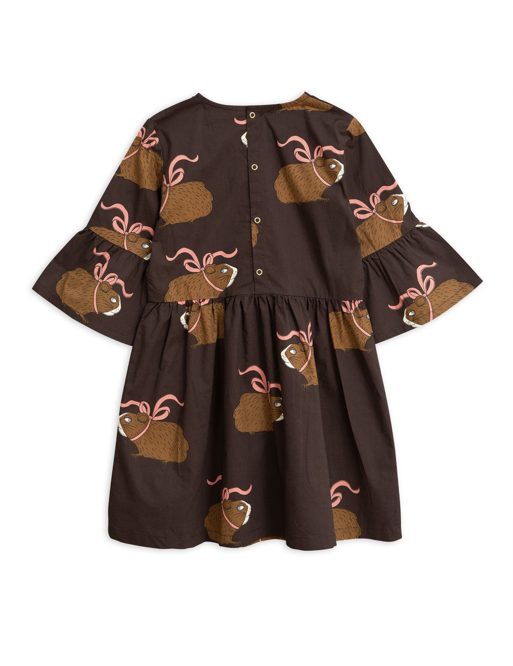 MINI RODINI POSH GUINEA PIG DRESS, BROWN