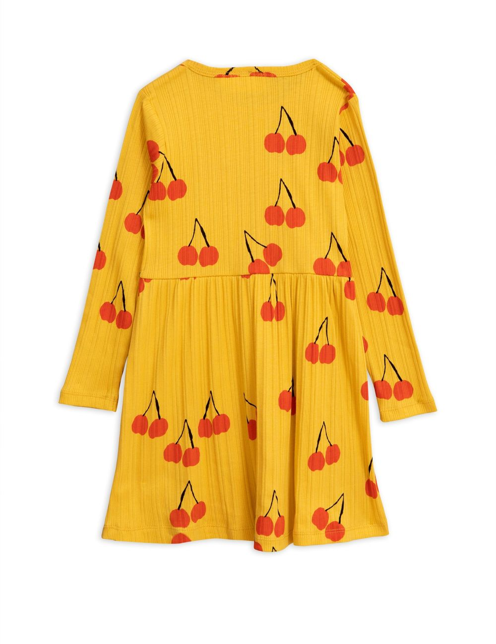 MINI RODINI CHERRY LS DRESS, YELLOW