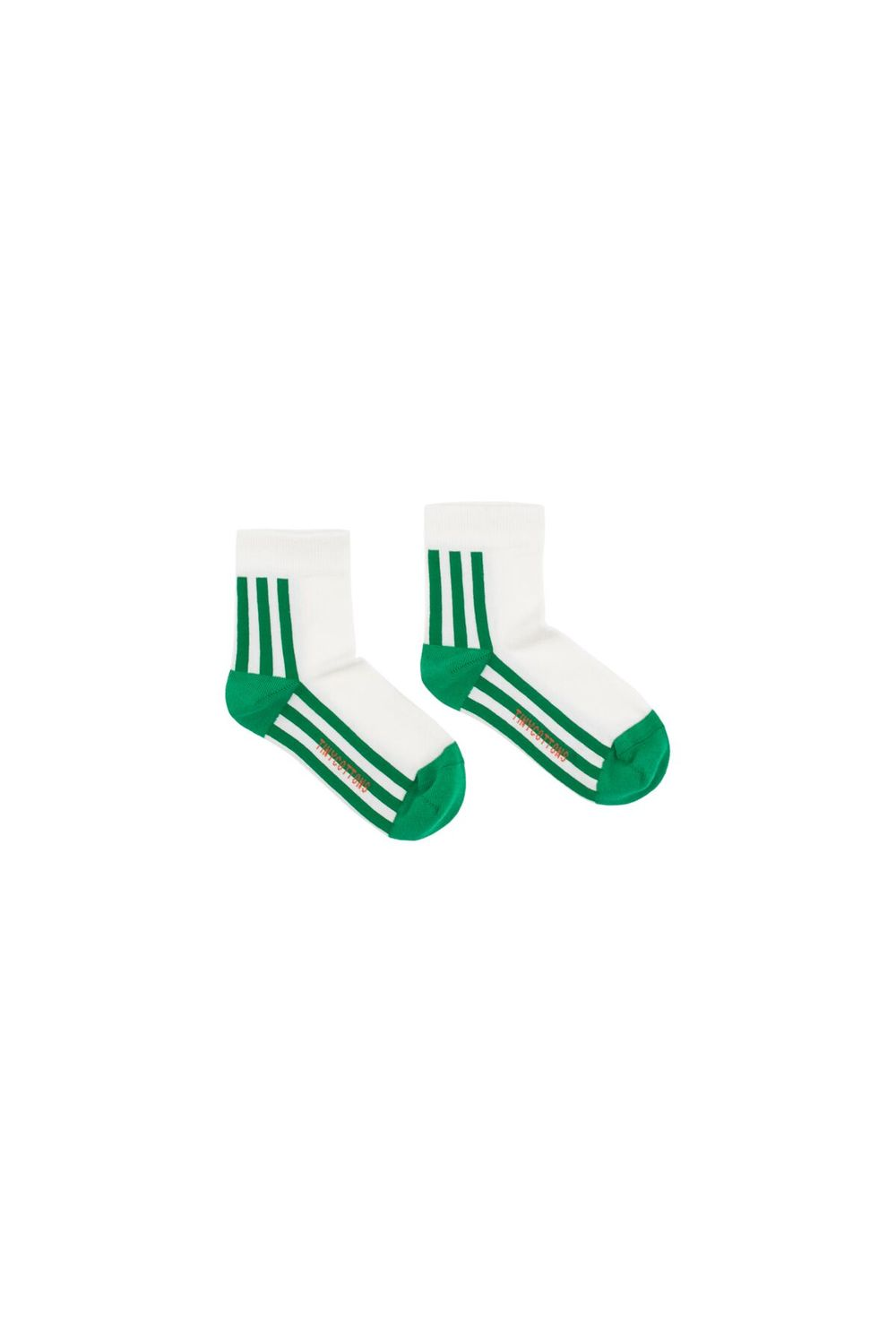 TINY COTTONS, STRIPE QUARTER SOCKS, GREEN