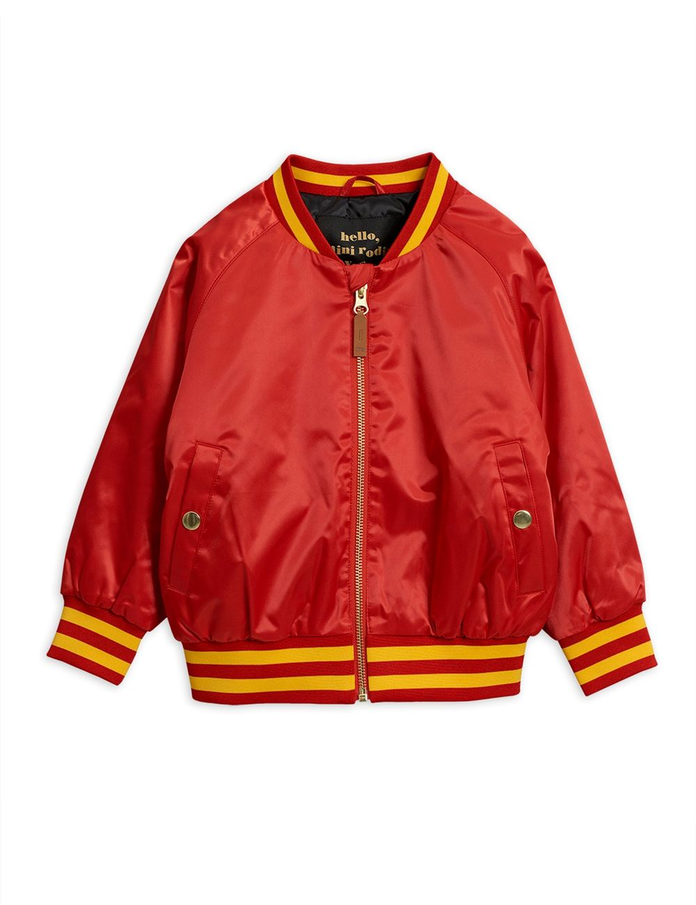 MINI RODINI PANTHER BASEBALL JACKET, RED