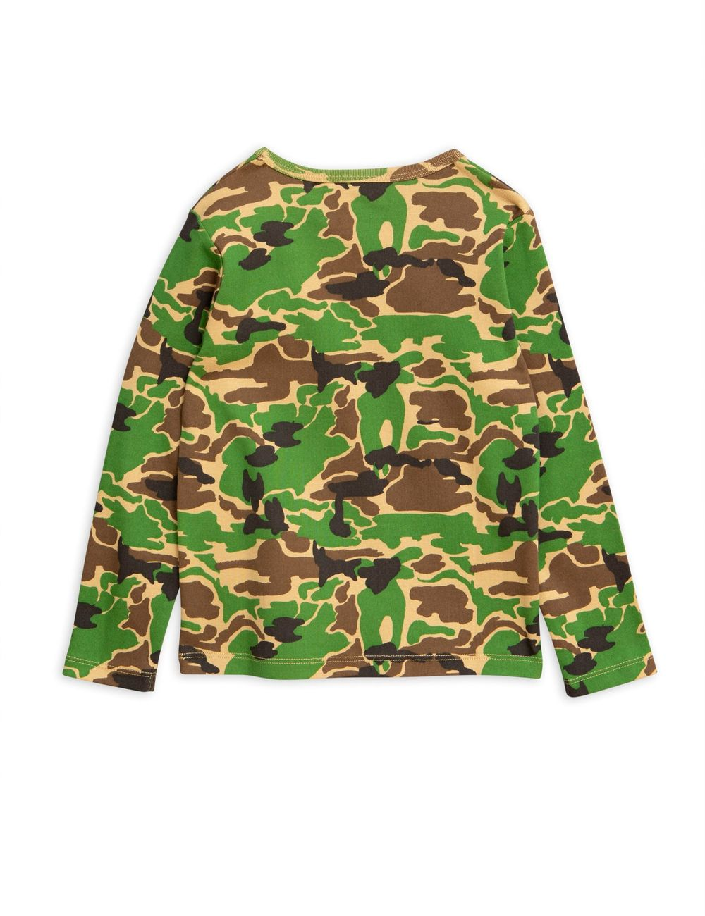 MINI RODINI CAMO LS TEE, GREEN