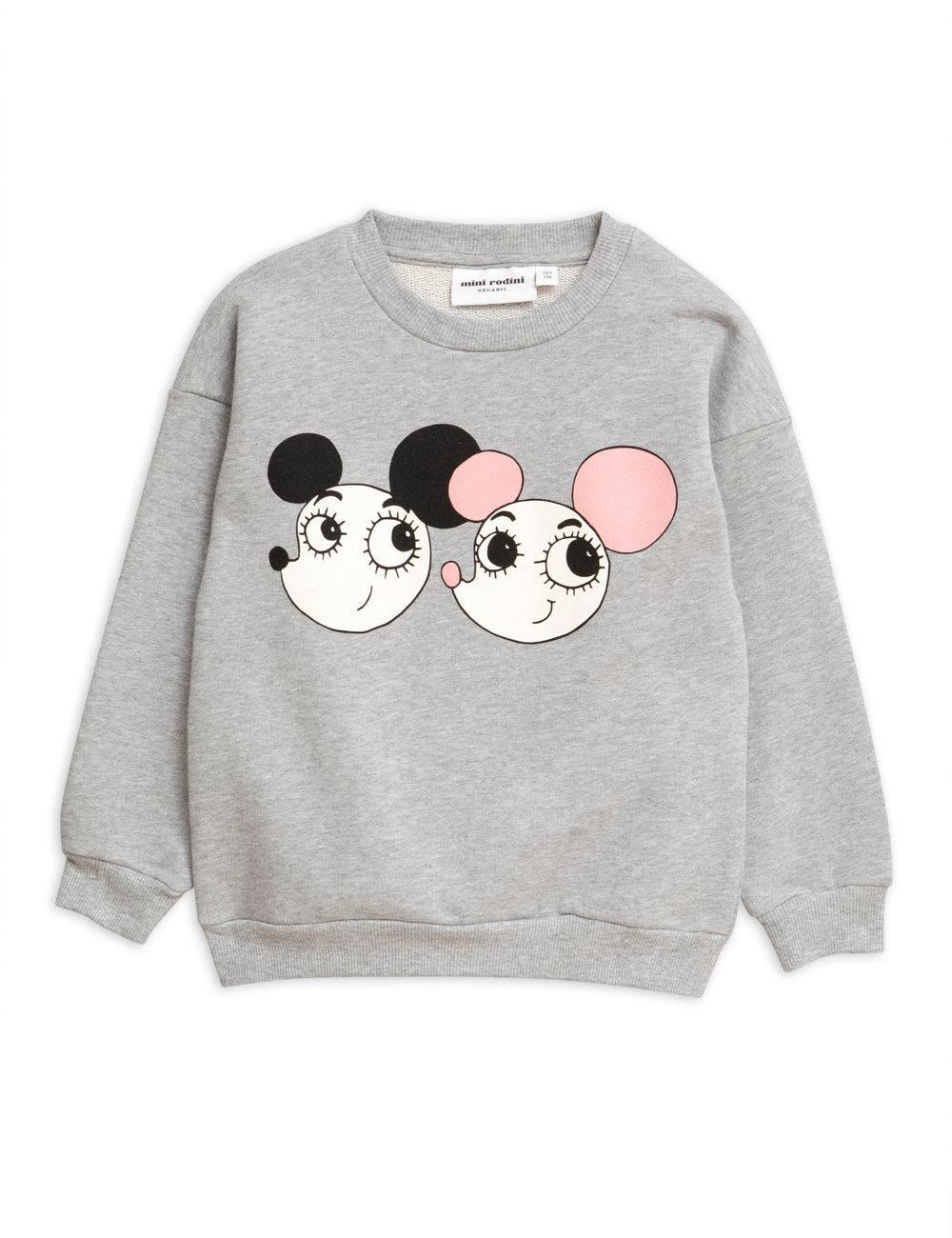 MINI RODINI RITZRATZ SP SWEATSHIRT, GREY MELANGE