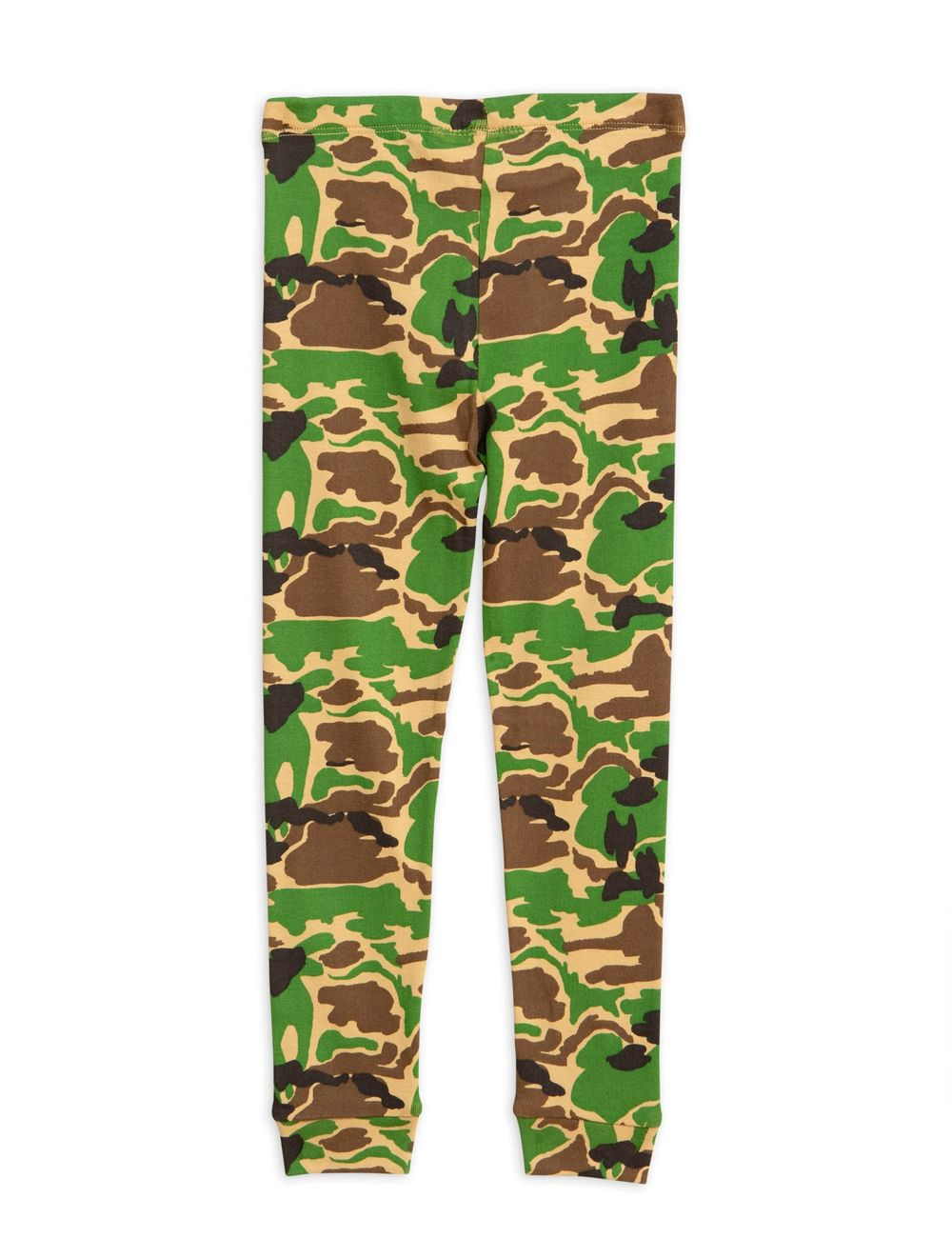 MINI RODINI CAMO LEGGINGS, GREEN