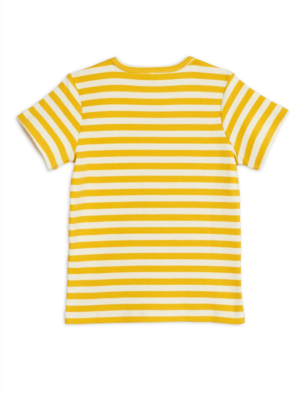 MINI RODINI STRIPE RIB SS TEE, YELLOW