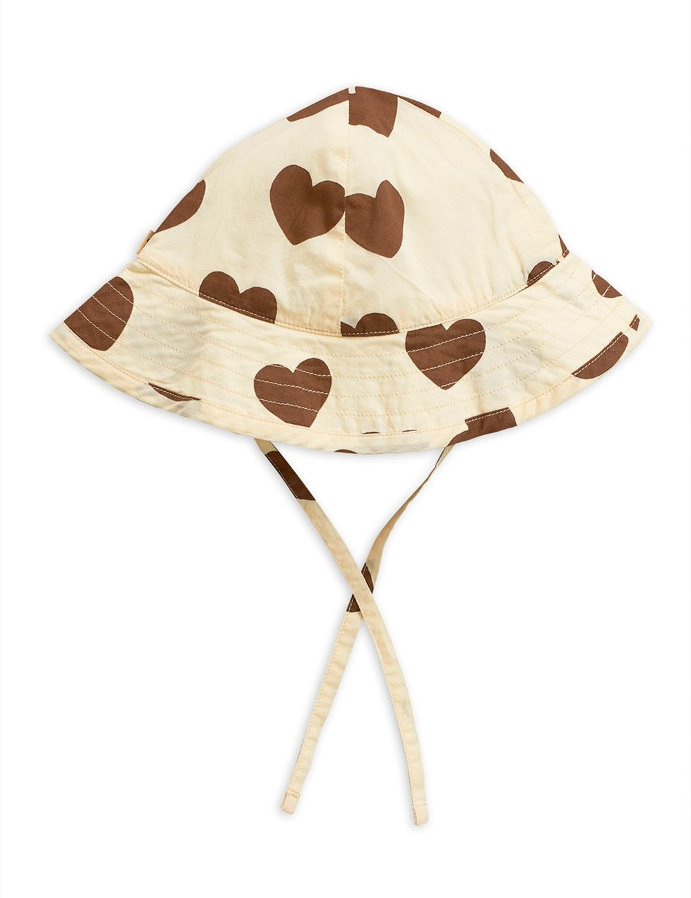 MINI RODINI HEARTS SUN HAT, BEIGE