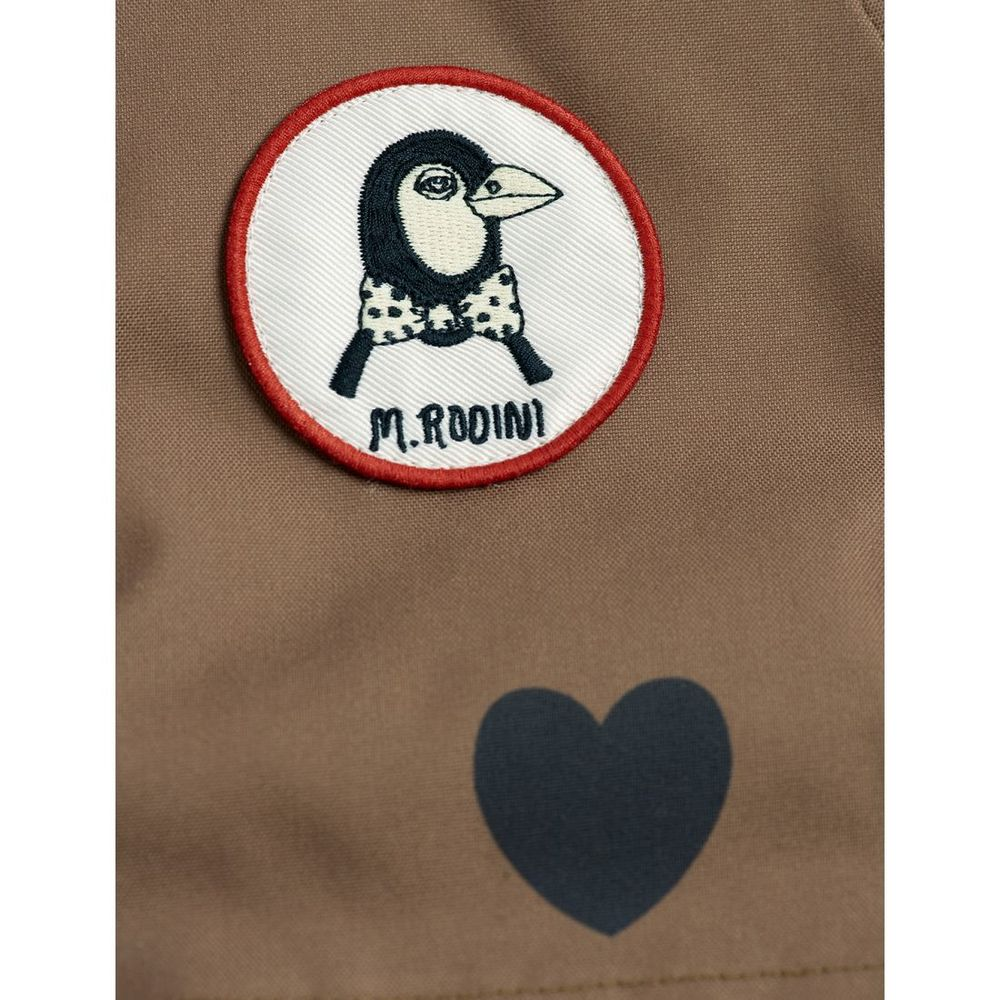 MINI RODINI K2 HEARTS PARKA, BROWN