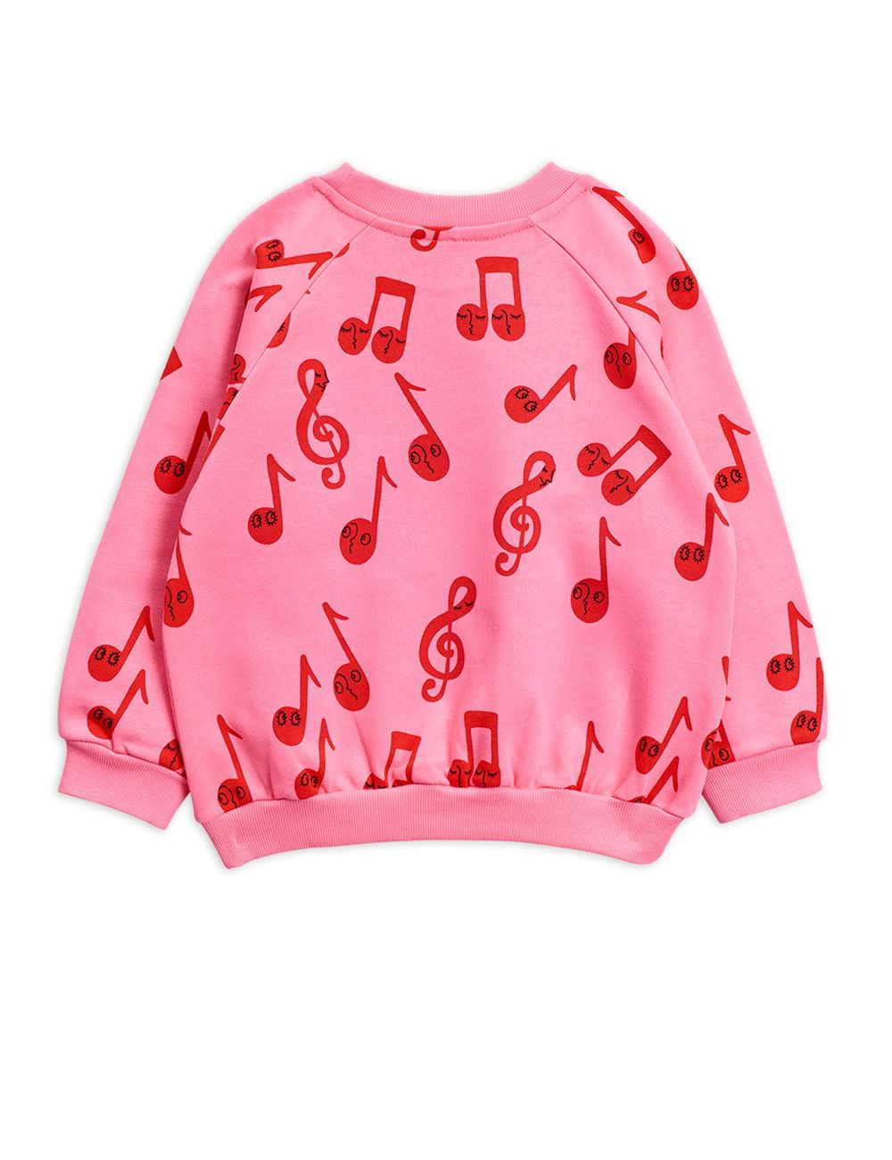 MINI RODINI NOTES AOP SWEATSHIRT, PINK
