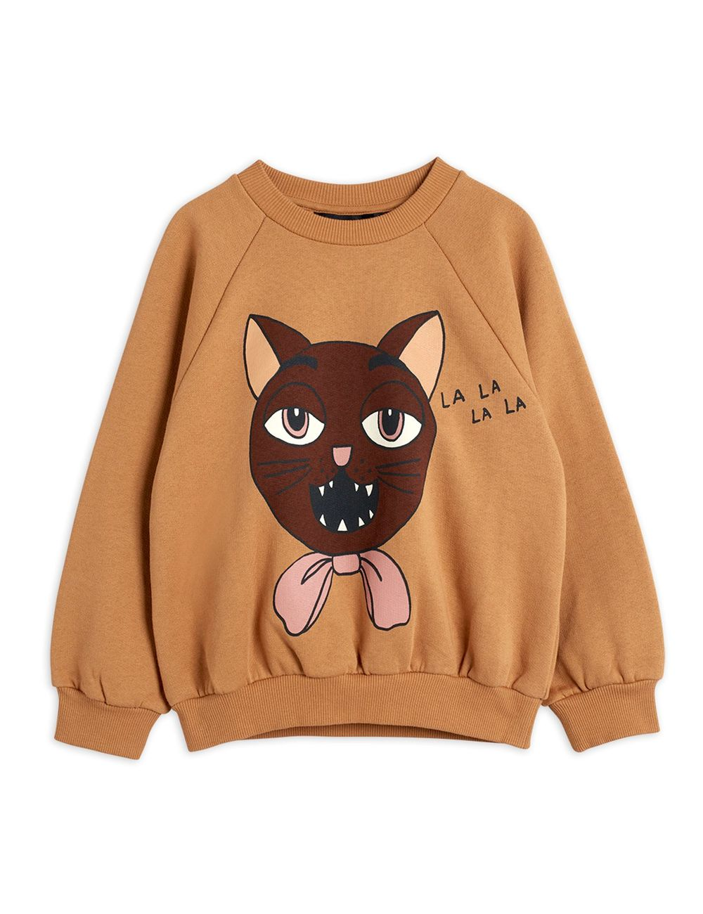 MINI RODINI CAT CHOIR SP SWEATSHIRT, BEIGE