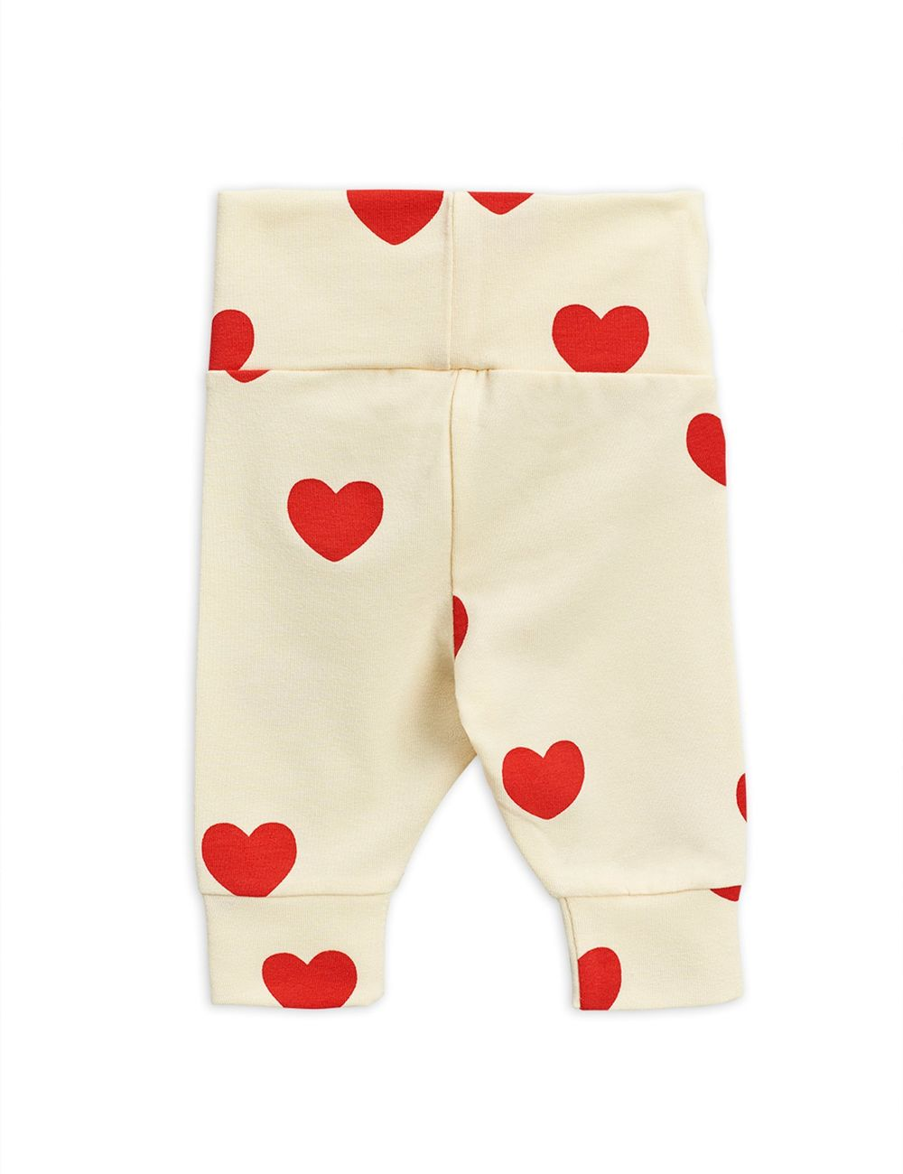 MINI RODINI HEARTS NB LEGGINGS, OFFWHITE