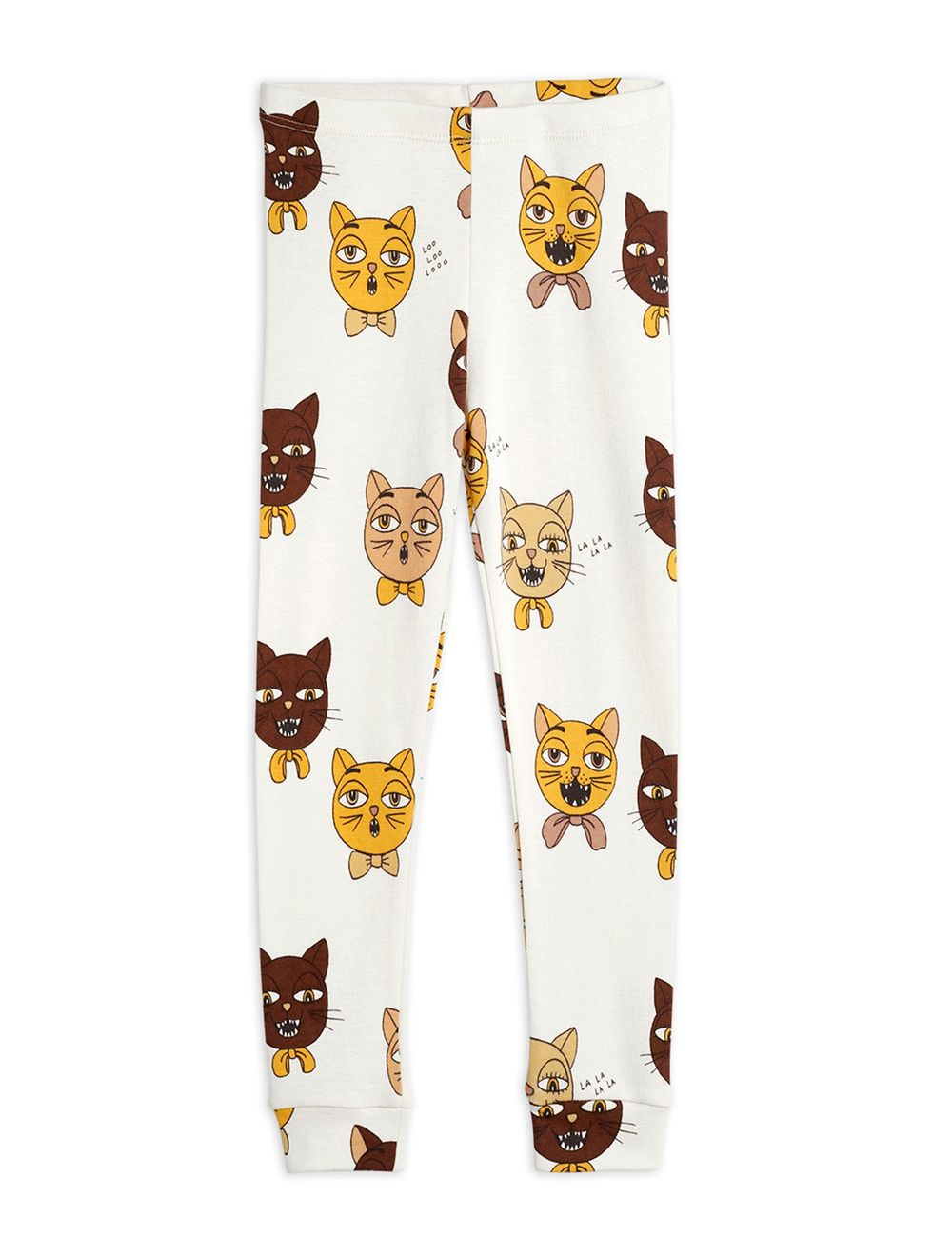 MINI RODINI CAT CHOIR AOP LEGGINGS, OFFW
