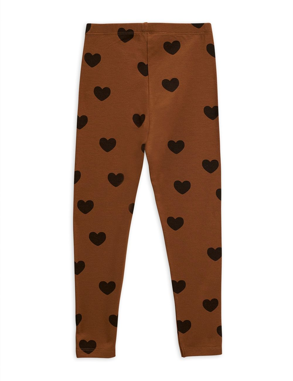 MINI RODINI HEARTS LEGGINGS, BROWN