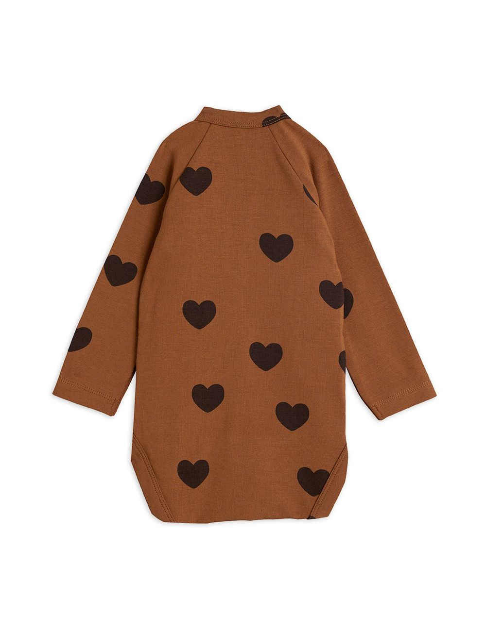 MINI RODINI HEARTS WRAP BODY, BROWN