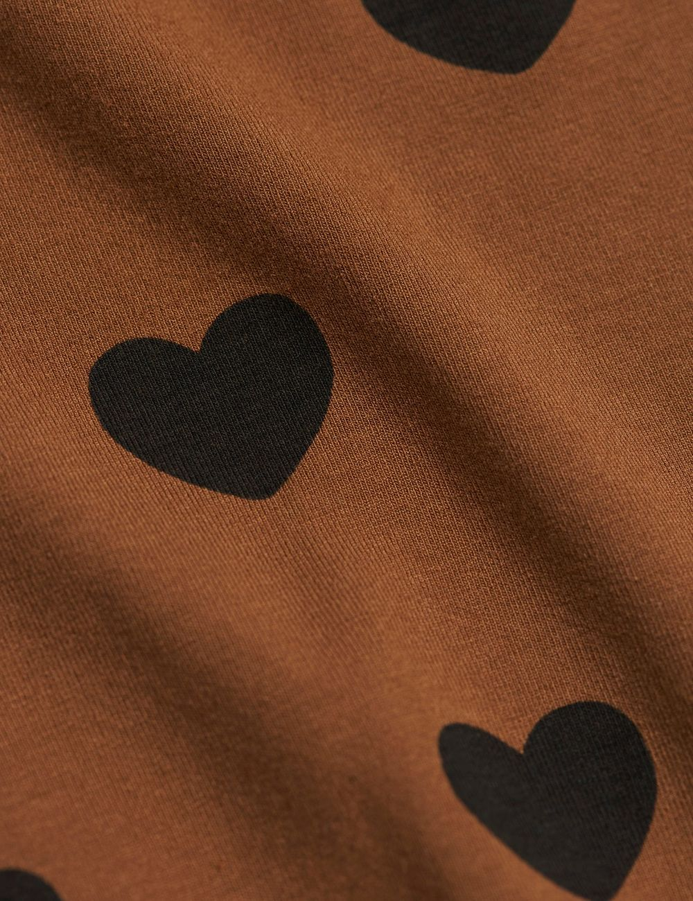 MINI RODINI HEARTS LS DRESS, BROWN