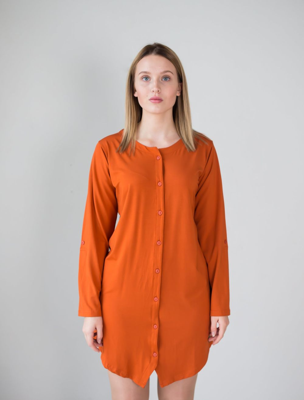 BLAA BELLO SHIRT, BURNT OCHRE