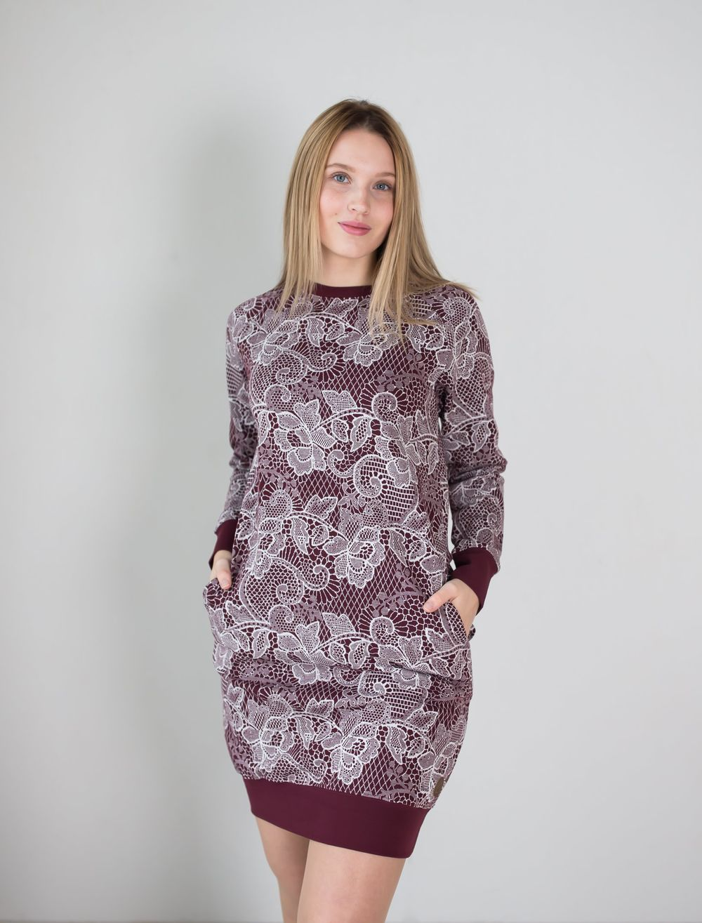 BLAA PHILADELPHIA KNITTED TUNIC, LACE CHOCOLATE
