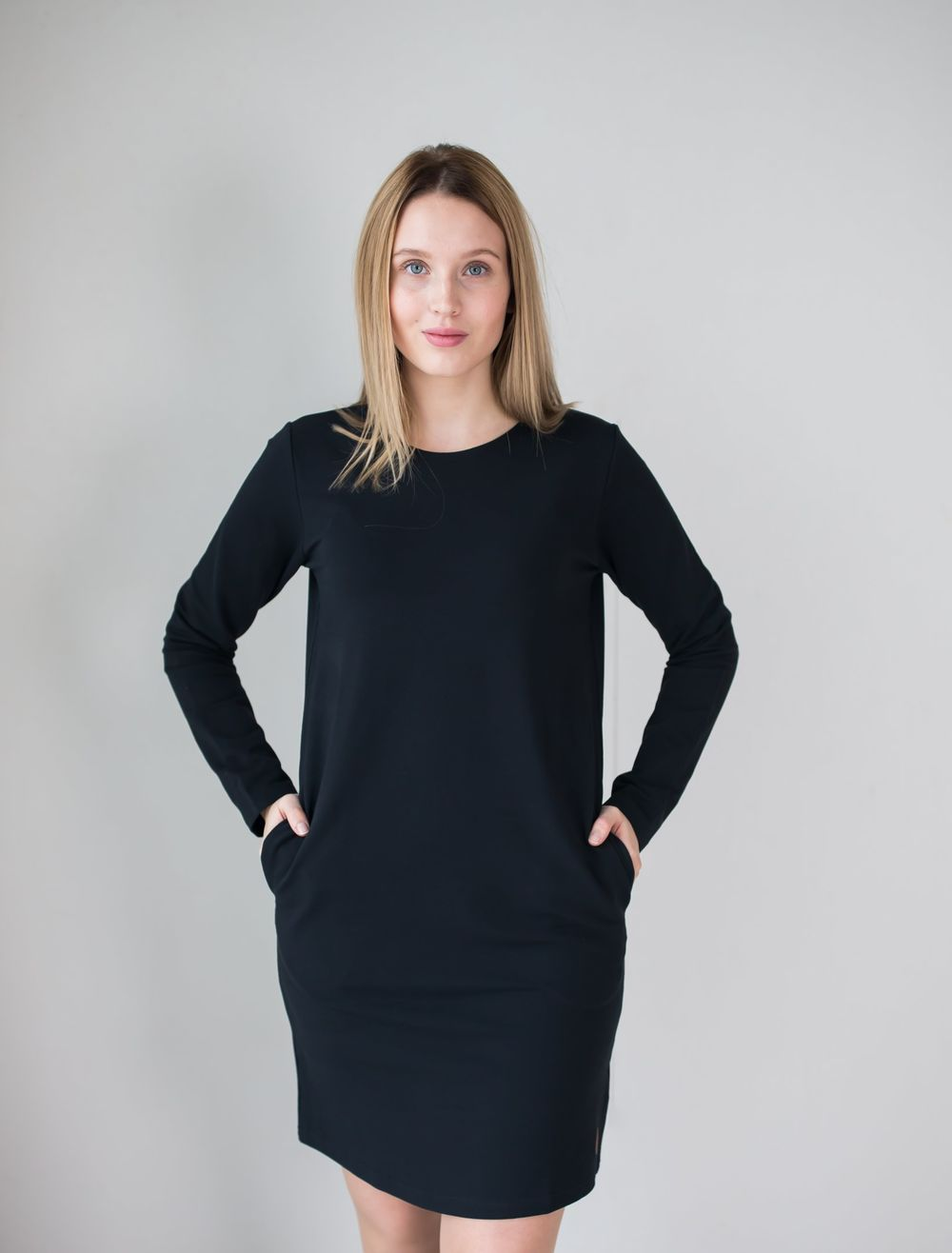 BLAA SALLA COLLEGE DRESS, BLACK