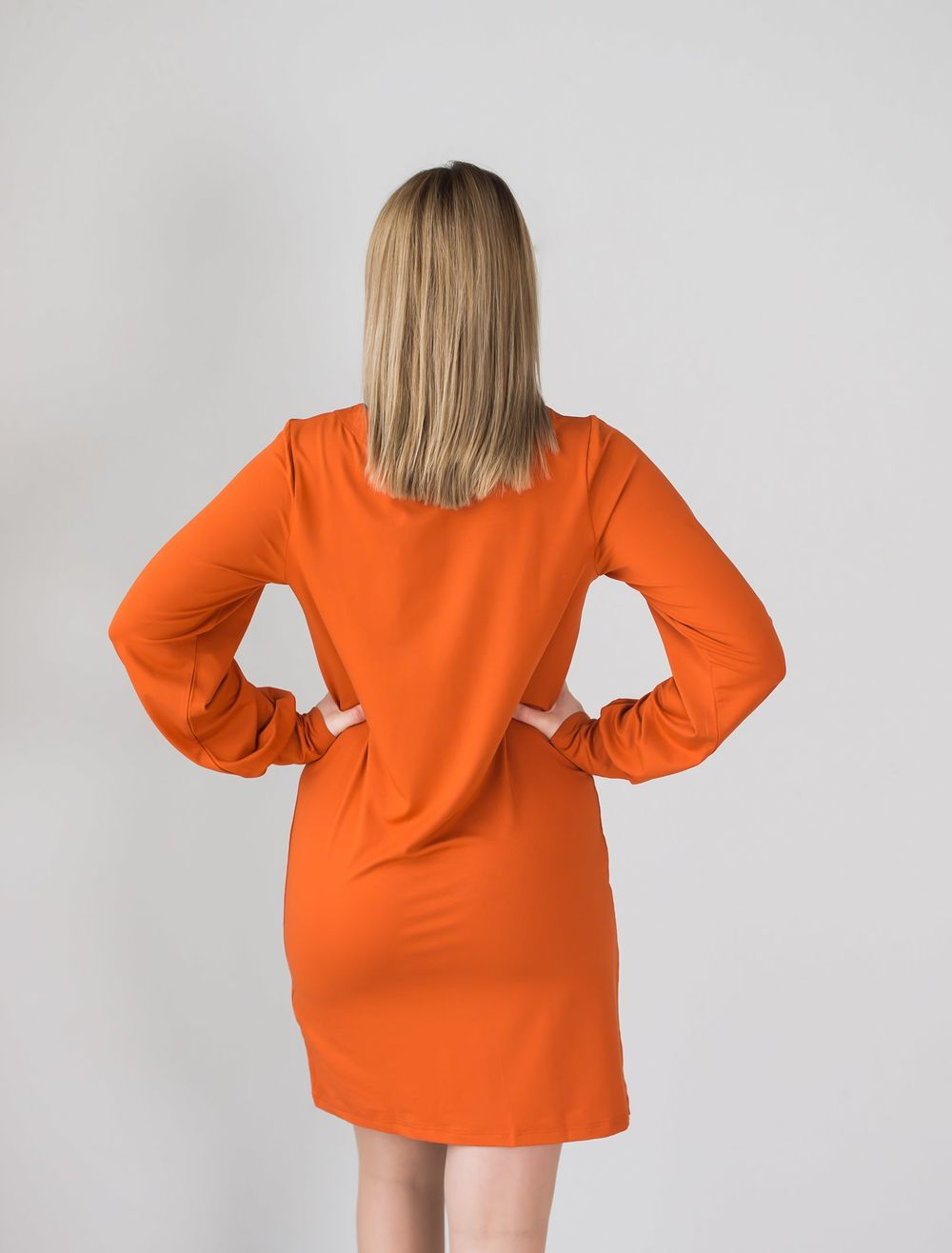 BLAA BRAGA DRESS, BURNT OCHRE