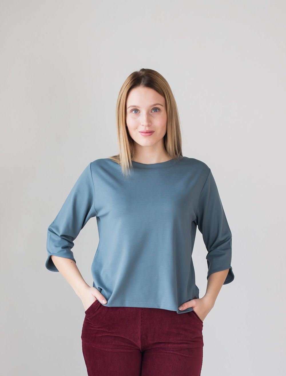 BLAA AMALIA SHIRT, BLUE GRAY