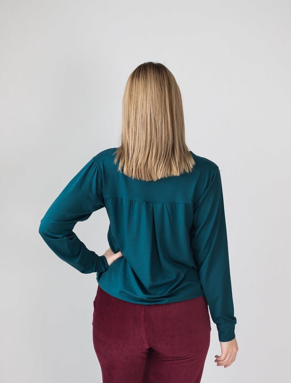 BLAA MINSK SHIRT, DEEP TEAL