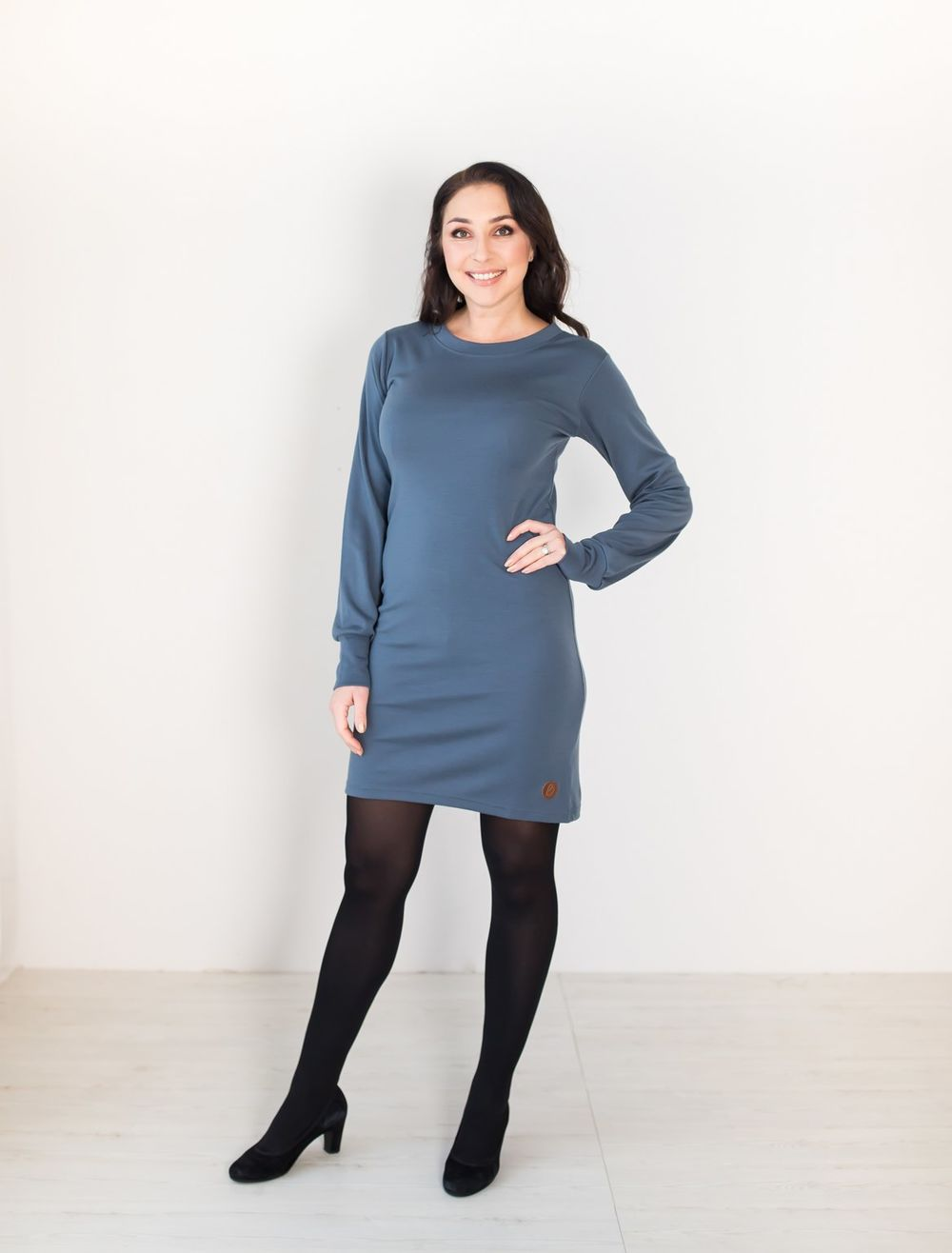 BLAA PRISTINA DRESS, DARK SLATE