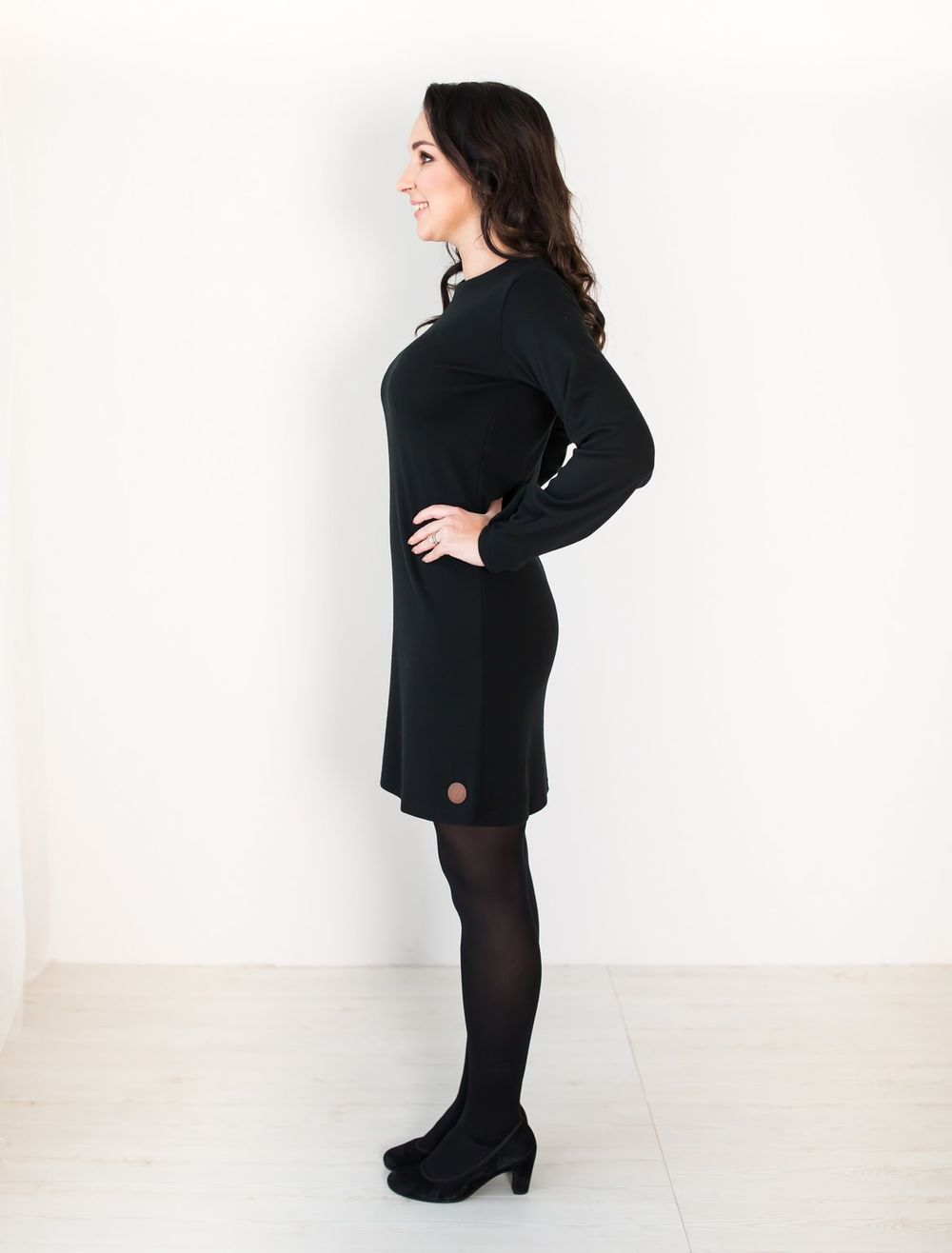 BLAA CORDAST DRESS, BLACK
