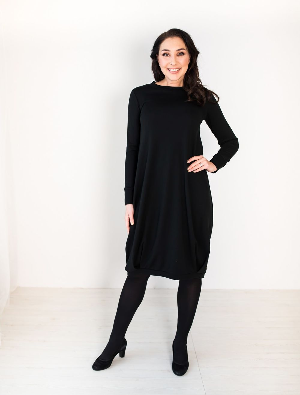 BLAA CHEIRY DRESS, BLACK