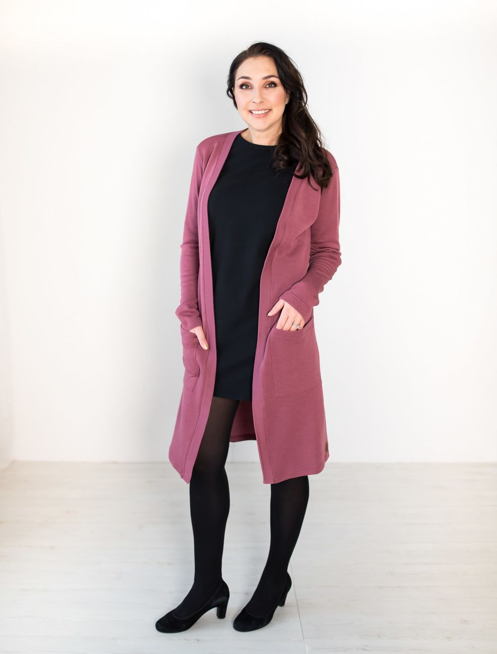 BLAA MARGOTE LONG JACKET, CRUSHED BERRY