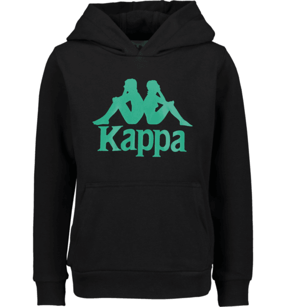 KAPPA JR SWEATHOOD ZIMIM, BLK-GREEN