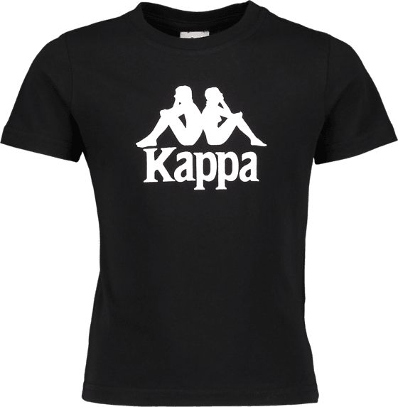 KAPPA JR T-SHIRT AUTH, BLK-WHITE