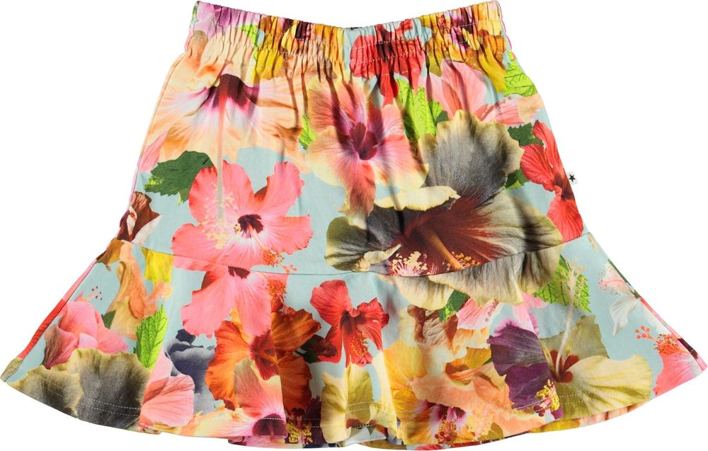 MOLO BLISS SKIRT, PACIFIC FLORAL BLUE