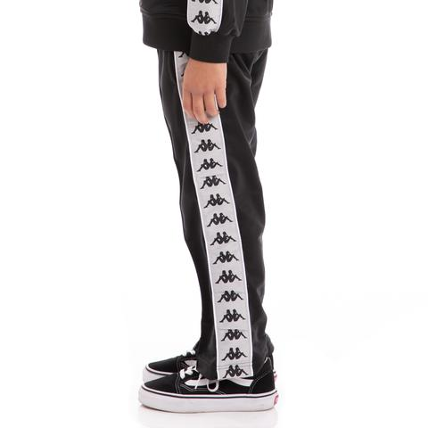 KAPPA JR PANT BANDA, BLACK-WHITE