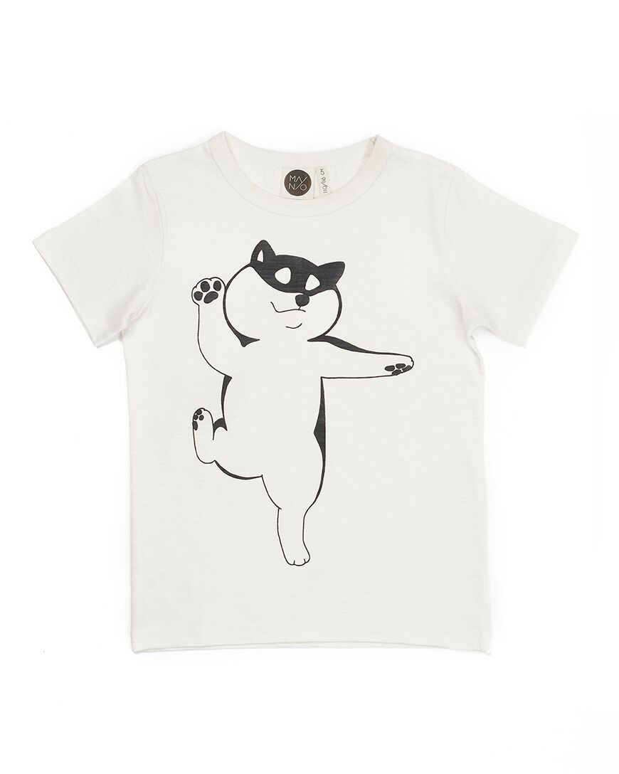 MAINIO DOGGI T-SHIRT, WHISPER WHITE