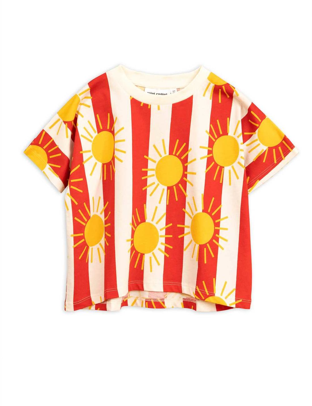 MINI RODINI SUN STRIPE AOP SS TEE, RED
