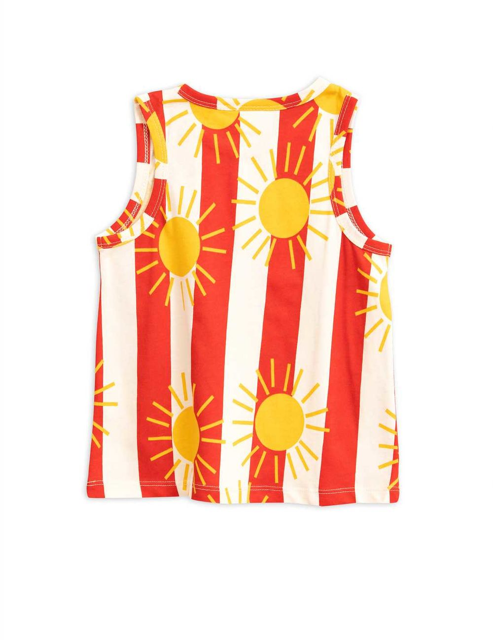 MINI RODINI  SUN STRIPE AOP TANKTOP,  RED