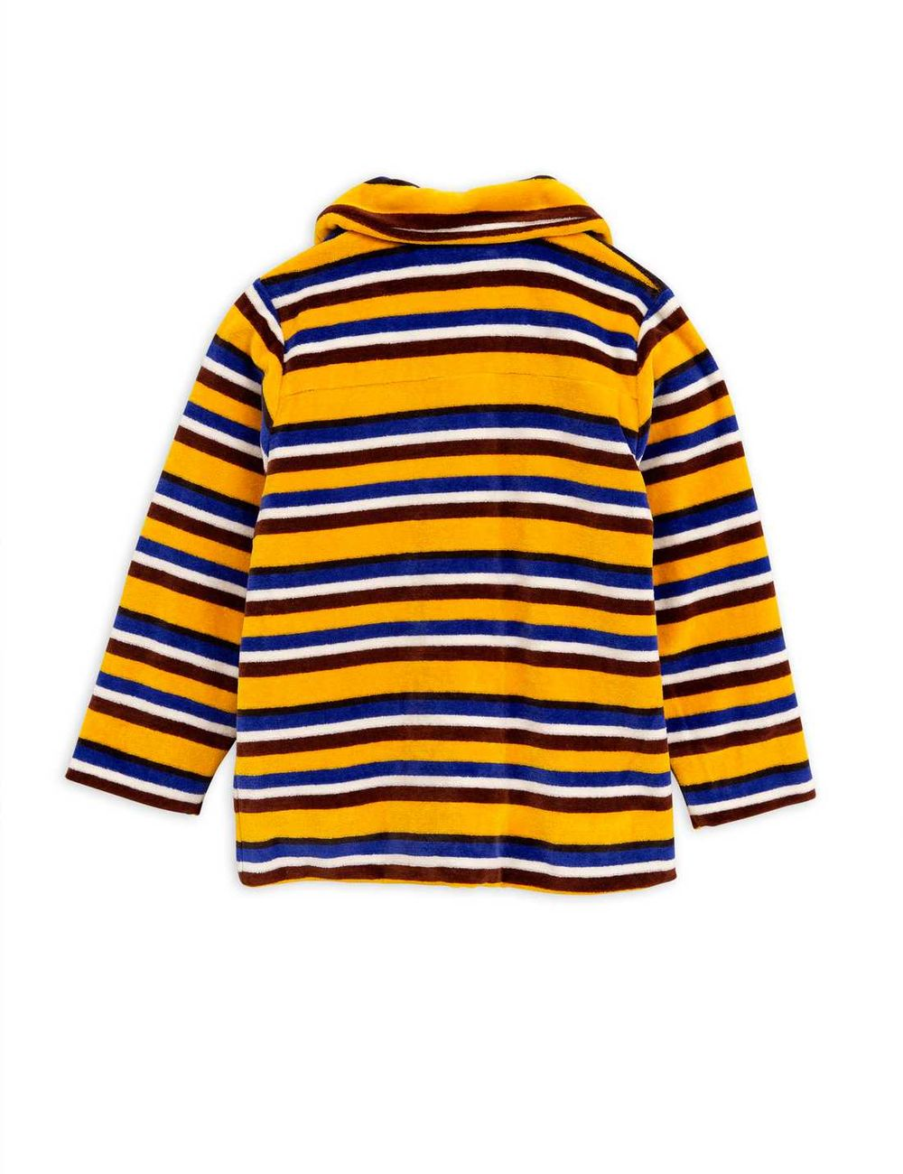 MINI RODINI. VELOUR STRIPE JACKET. YELLO