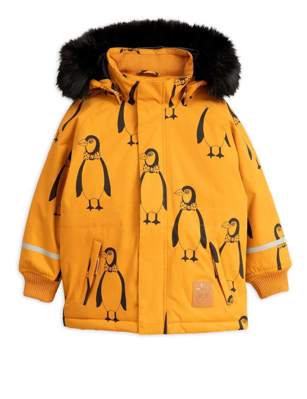 MINI RODINI K2 PENQUIN PARKA, BROWN