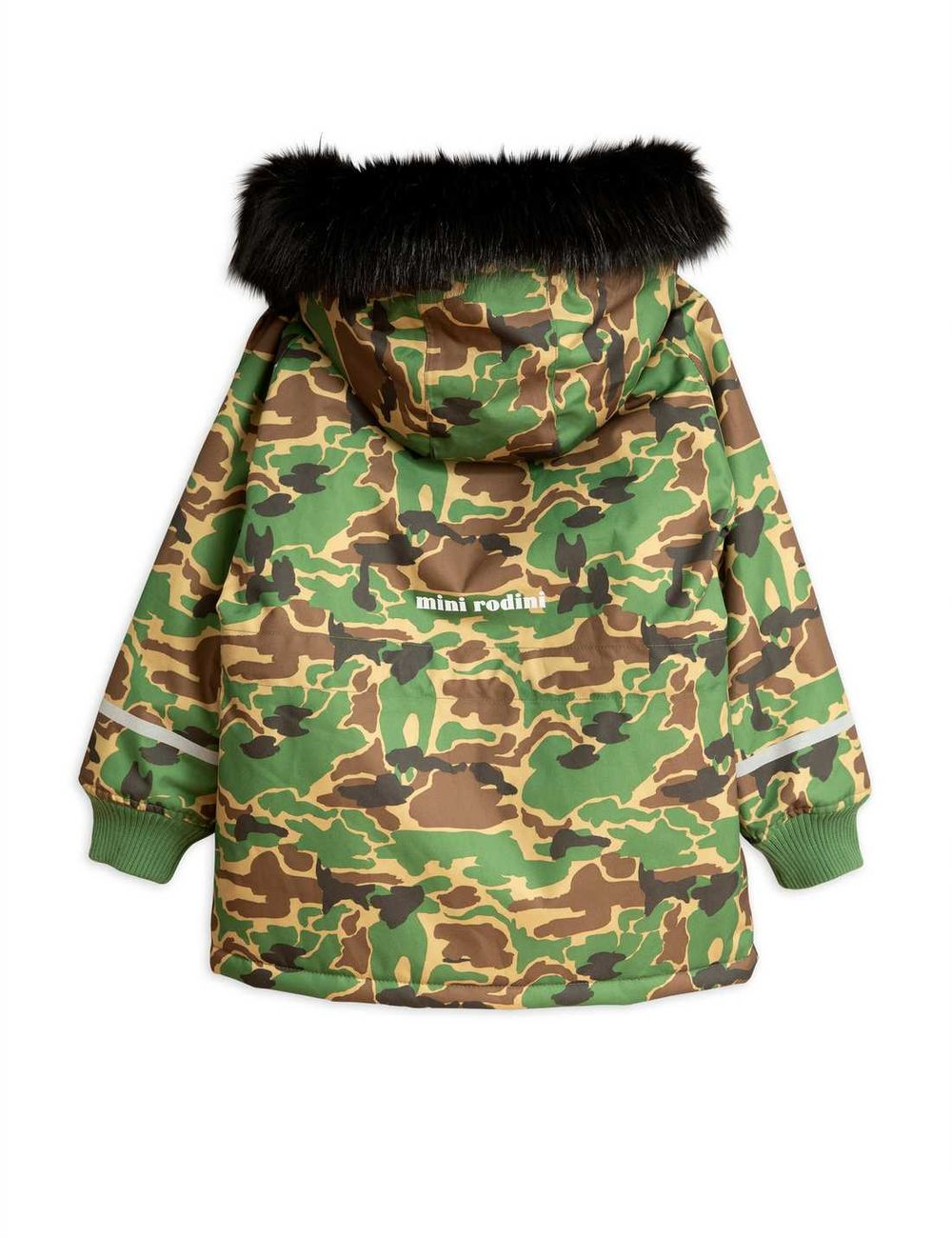 MINI RODINI K2 CAMO PARKA, GREEN