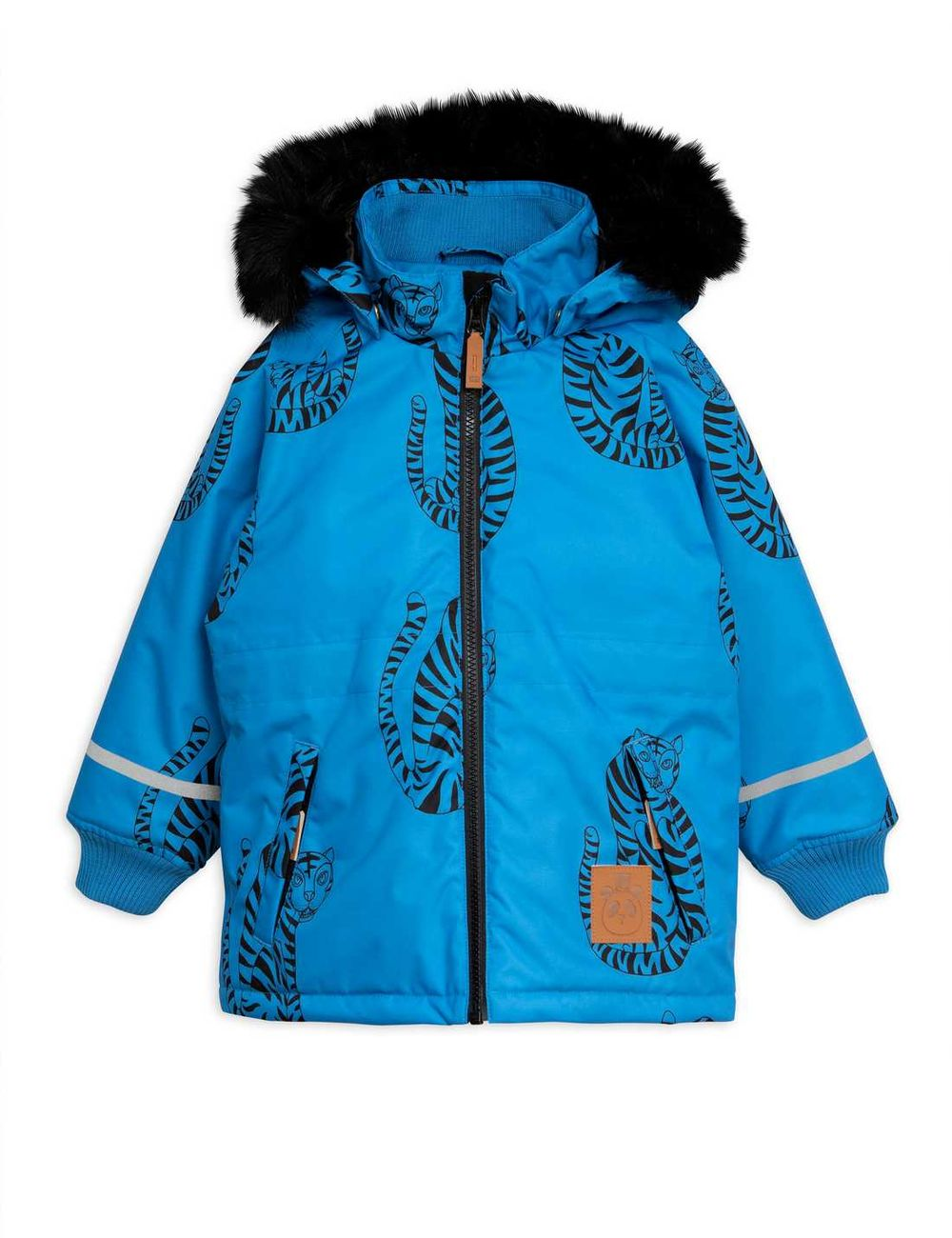 MINI RODINI K2 TIGER PARKA, BLUE