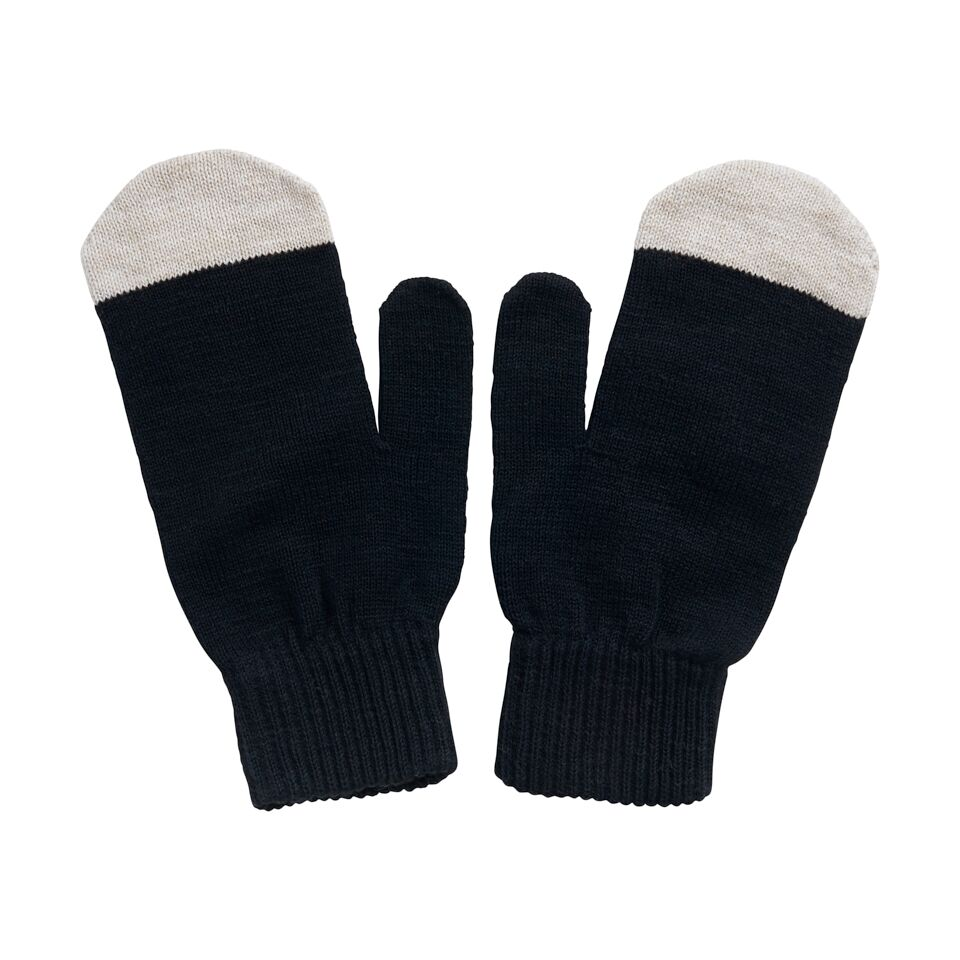PAPU KIVI MITTEN ADULT, BLACK/CREAM