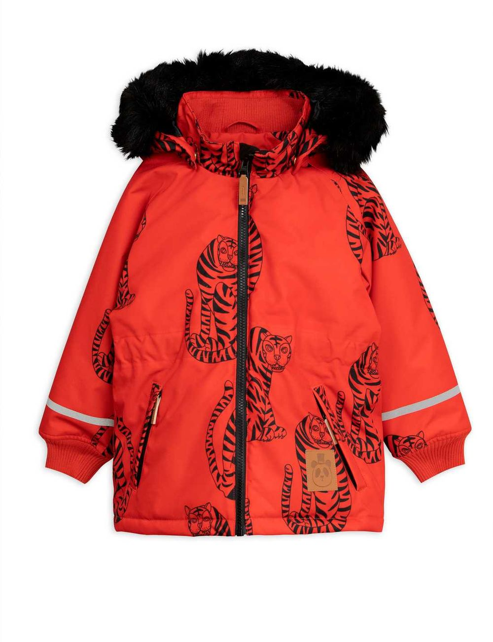 MINI RODINI K2 TIGER PARKA, RED